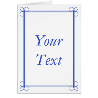 Custom Dark Blue Thank You Card Stationery