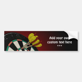 Custom Darts Design Car Bumper Sticker