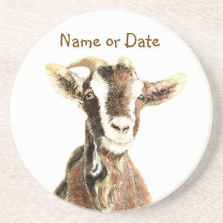 Custom Date or Name Goat, Farm Animal Coaster