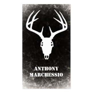 Custom Deer Hunting Skull Business Card Template