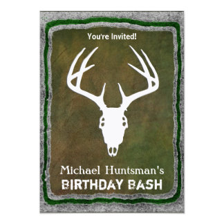Custom Deer Hunting Skull Card