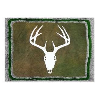 """Custom Deer Hunting Skull 5"""" X 7"""" Invitation Card"""