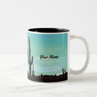 Custom Desert Scene with Cactus Mug