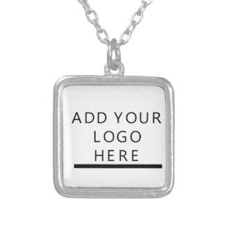 Custom Design Logo Square Pendant Necklace