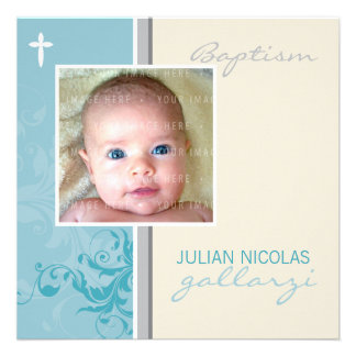 CUSTOM DESIGN :: Suzana Baptism Invite - posh 2SQ