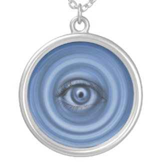 Custom Designed Necklace,Blue Eye Silver Plated Necklace