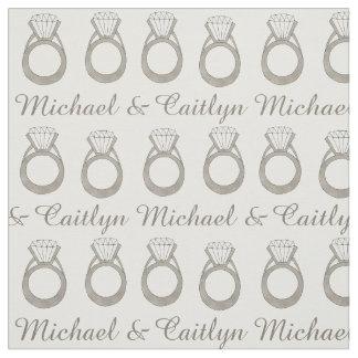Custom Diamond Ring Wedding Engagement Fabric