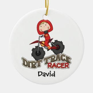 Custom Dirt Track Racer Kids Christmas Ornament