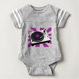 Custom Disco Turntable Retro Record Baby Bodysuit