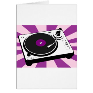 Custom Disco Turntable Retro Record Card
