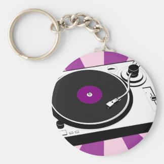 Custom Disco Turntable Retro Record Key Ring