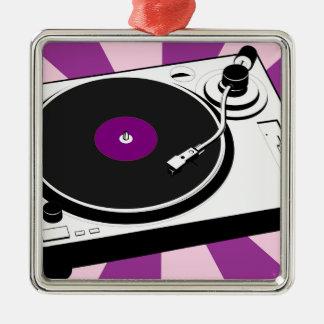 Custom Disco Turntable Retro Record Metal Ornament