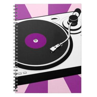 Custom Disco Turntable Retro Record Notebooks