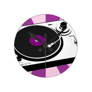 Custom Disco Turntable Retro Record Round Clock