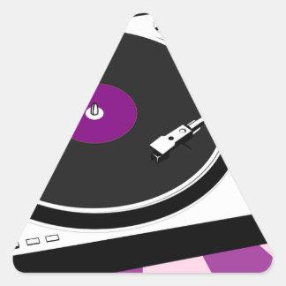 Custom Disco Turntable Retro Record Triangle Sticker