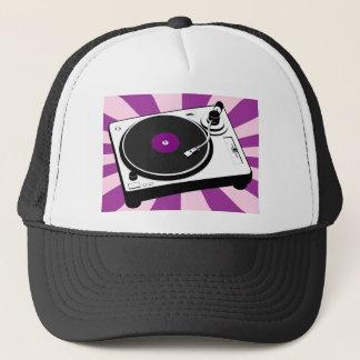 Custom Disco Turntable Retro Record Trucker Hat