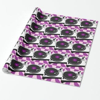 Custom Disco Turntable Retro Record Wrapping Paper