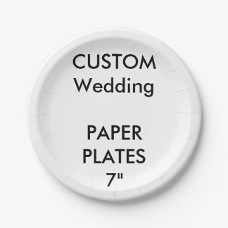 Custom Disposable Wedding Paper Cake Plates 7""