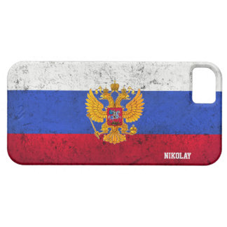 Custom Distressed Russian Flag iPhone Case