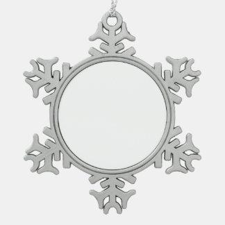 Custom DIY Pewter Snowflake Ornament
