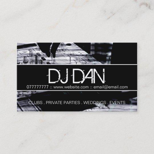 Custom dj business cards zazzle custom dj business cards reheart Image collections
