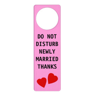 Custom Do Not Disturb Newly Married Thanks Heart Door Hanger
