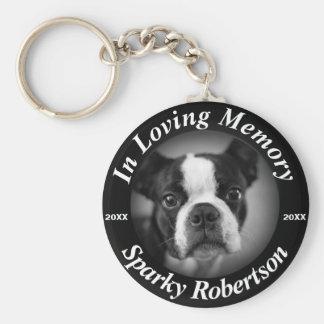 Custom Dog Memorial Basic Round Button Key Ring