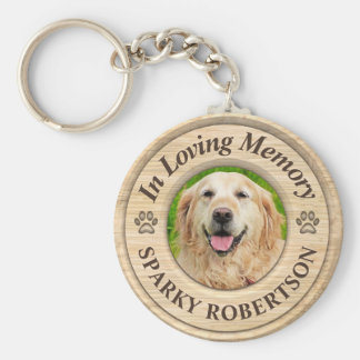 Custom Dog Memorial Keepsake Key Ring
