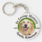 Custom Dog Memorial Key Ring