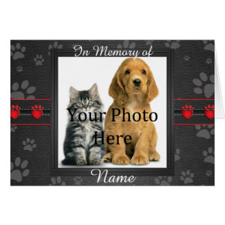 Custom Dog or Cat Memorial Announcement Tribute