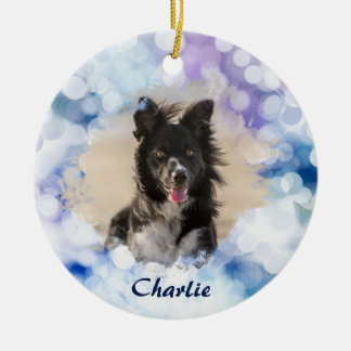 Custom Dog Photo Christmas Ornament