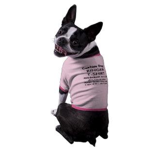 Custom Dog Ringer T-shirt PINK/RED M 11-23 lb dogs Ringer Dog Shirt