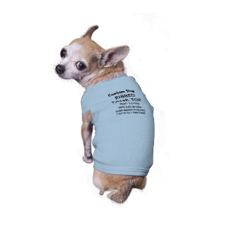 Custom Dog Tank Top T-shirt BLUE S 5-10 lb dogs Sleeveless Dog Shirt