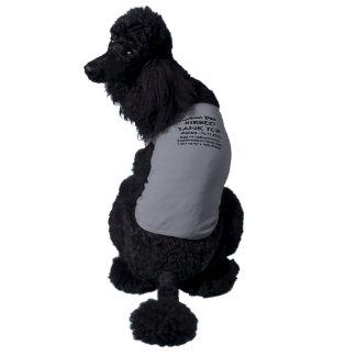 Custom Dog Tank Top T-shirt GREY 2XL 71-85 lb dogs Sleeveless Dog Shirt