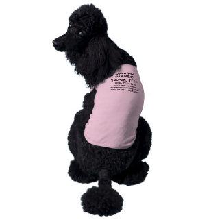 Custom Dog Tank Top T-shirt PINK 2XL 71-85 lb dogs Sleeveless Dog Shirt
