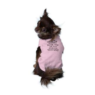 Custom Dog Tank Top T-shirt PINK XS 0-4 lb dogs Sleeveless Dog Shirt