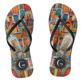 Custom Doors of the World Unique Colorful Thongs