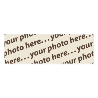 Custom Double Photo Bookmark w/Thoreau Quote Pack Of Skinny Business Cards