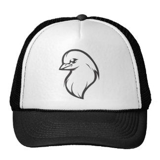 Custom Dove Logo Black and White Mesh Hat