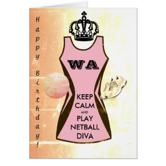 Custom Dress Colour Keep Calm and Play Netball Card