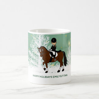 Custom Dressage Horse Rider Gift for Girl add Name Coffee Mug