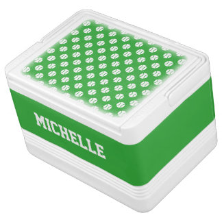 Custom drink cooler box for tennis player or coach