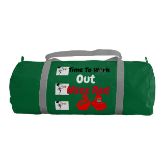 Custom Duffle Gym Bag, Emerald with Silver straps Gym Bag
