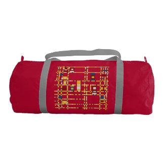 Custom Duffle Gym Bag, Red with Silver straps Gym Bag