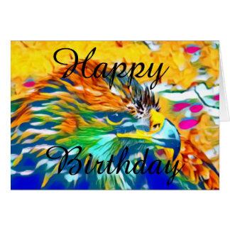 Custom Eagle Pop Art_1 Happy Birthday Card