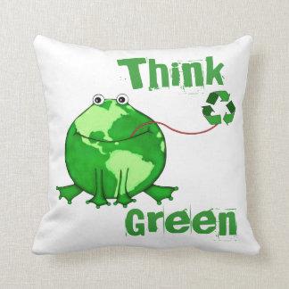 Custom Earth Day Green American MoJo Throw Pillow
