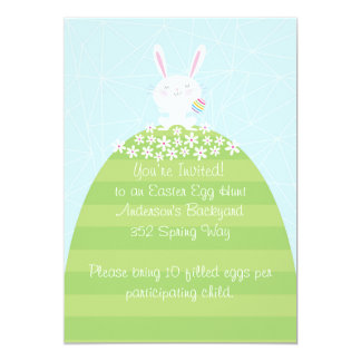 Custom Easter Egg Hunt Inviatation 13 Cm X 18 Cm Invitation Card