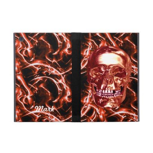 Custom Electric Red Chrome Skull iPad Mini Case