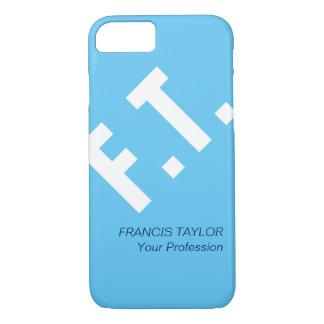 Custom elegant and minimal light blue initials… iPhone 7 case