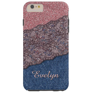 Custom Elegant Cute Stylish Floral Lace Pattern Tough iPhone 6 Plus Case